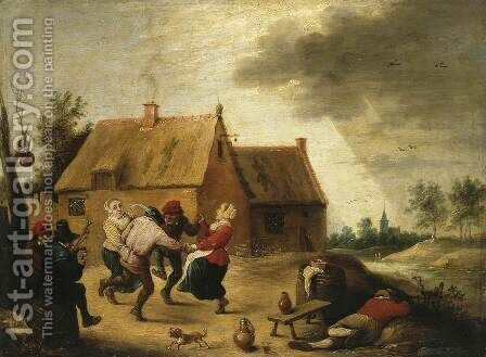 Dancing Peasants by Abraham Teniers - Reproduction Oil Painting