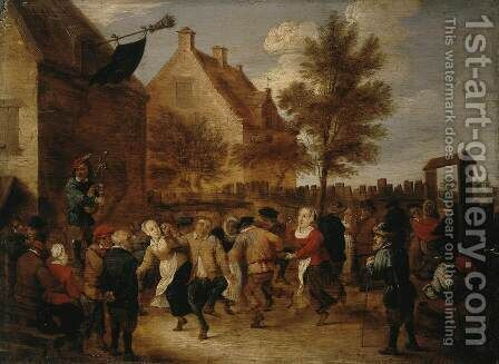 Rural Feast by Abraham Teniers - Reproduction Oil Painting