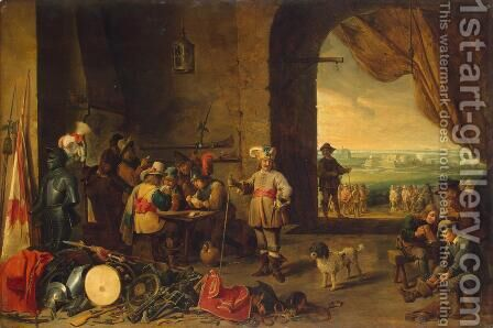 Guardroom by David The Younger Teniers - Reproduction Oil Painting