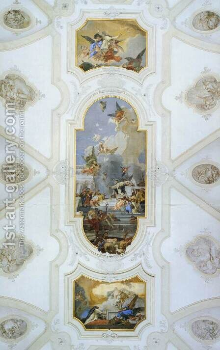 Ceiling frescoes by Giovanni Battista Tiepolo - Reproduction Oil Painting