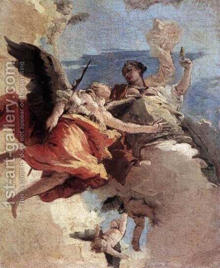 Allegory of Strength and Wisdom by Giovanni Battista Tiepolo - Reproduction Oil Painting