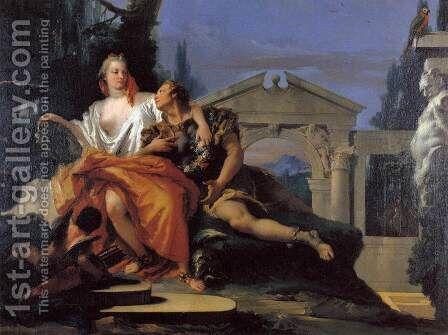 Rinaldo and Armida 3 by Giovanni Battista Tiepolo - Reproduction Oil Painting