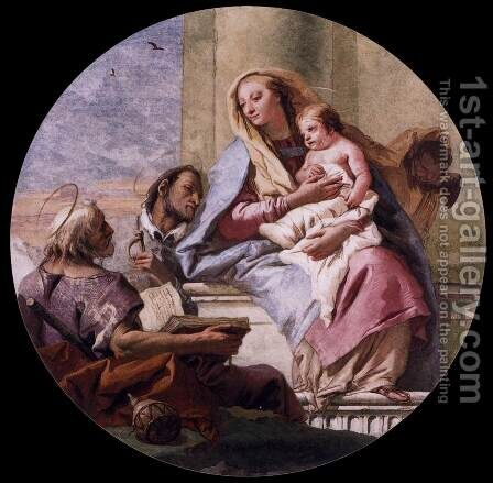 Virgin and Child with Saints by Giovanni Domenico Tiepolo - Reproduction Oil Painting