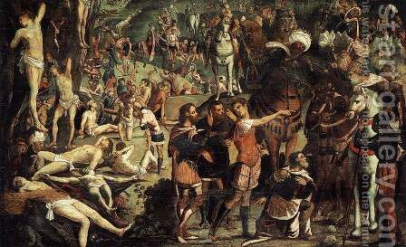 The Martyrdom of the Ten Thousand (fragment) 2 by Jacopo Tintoretto (Robusti) - Reproduction Oil Painting