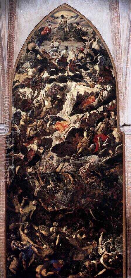 The Last Judgment by Jacopo Tintoretto (Robusti) - Reproduction Oil Painting