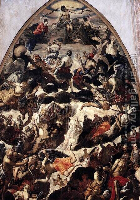 The Last Judgment (detail) by Jacopo Tintoretto (Robusti) - Reproduction Oil Painting