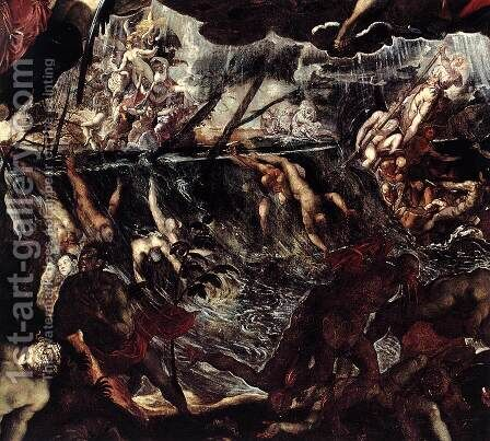 The Last Judgment (detail) 2 by Jacopo Tintoretto (Robusti) - Reproduction Oil Painting