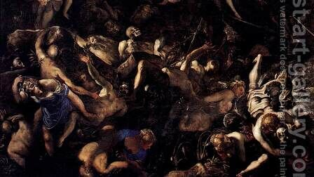 The Last Judgment (detail) 3 by Jacopo Tintoretto (Robusti) - Reproduction Oil Painting