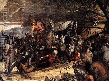 The Crucifixion (detail) 3 by Jacopo Tintoretto (Robusti) - Reproduction Oil Painting