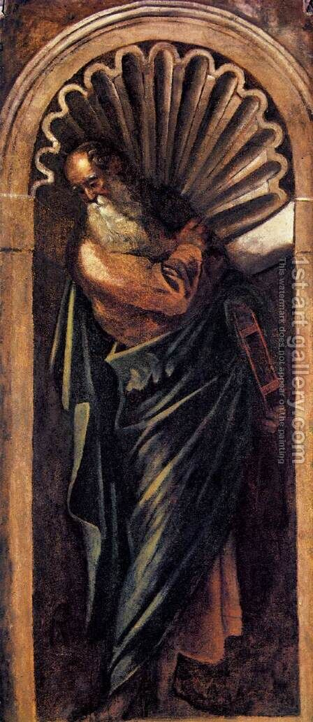 Prophet 3 by Jacopo Tintoretto (Robusti) - Reproduction Oil Painting