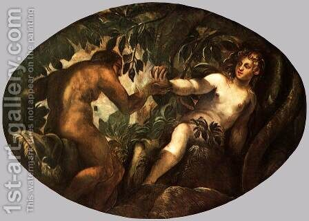 The Fall of Man 3 by Jacopo Tintoretto (Robusti) - Reproduction Oil Painting