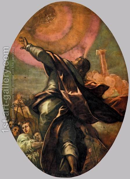 The Pillar of Fire 2 by Jacopo Tintoretto (Robusti) - Reproduction Oil Painting