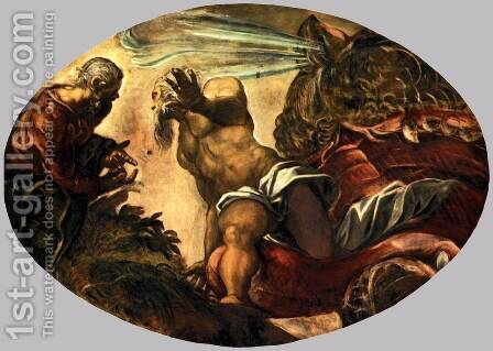 Jonah Leaves the Whale's Belly 2 by Jacopo Tintoretto (Robusti) - Reproduction Oil Painting