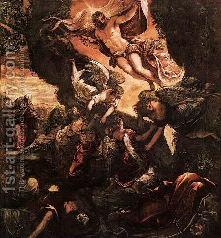 The Resurrection of Christ 5 by Jacopo Tintoretto (Robusti) - Reproduction Oil Painting