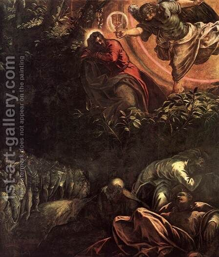 The Prayer in the Garden (detail) 3 by Jacopo Tintoretto (Robusti) - Reproduction Oil Painting
