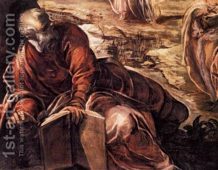 The Ascension (detail) by Jacopo Tintoretto (Robusti) - Reproduction Oil Painting