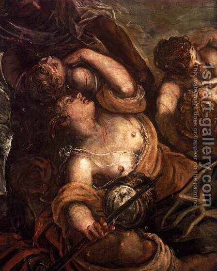 The Massacre of the Innocents (detail) 2 by Jacopo Tintoretto (Robusti) - Reproduction Oil Painting