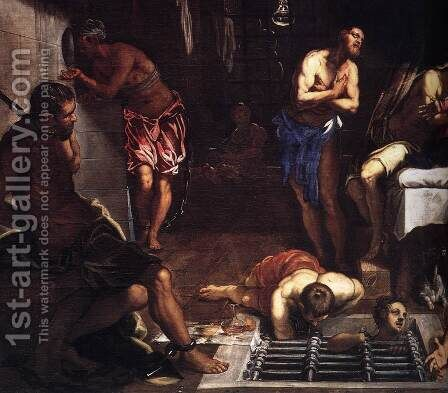 St Roch in Prison Visited by an Angel (detail) by Jacopo Tintoretto (Robusti) - Reproduction Oil Painting