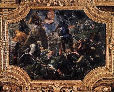 Defence of Brescia 2 by Jacopo Tintoretto (Robusti) - Reproduction Oil Painting