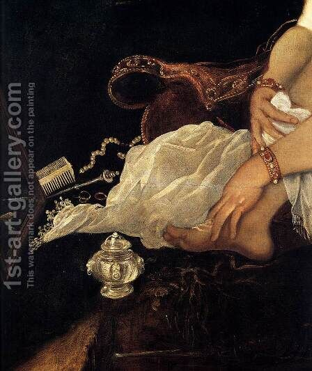 Susanna and the Elders (detail) by Jacopo Tintoretto (Robusti) - Reproduction Oil Painting