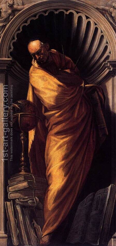 A Philosopher by Jacopo Tintoretto (Robusti) - Reproduction Oil Painting
