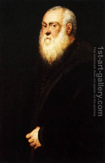 Portrait of a White-Bearded Man 2 by Jacopo Tintoretto (Robusti) - Reproduction Oil Painting
