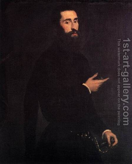 Portrait of a Genoese Nobleman 2 by Jacopo Tintoretto (Robusti) - Reproduction Oil Painting