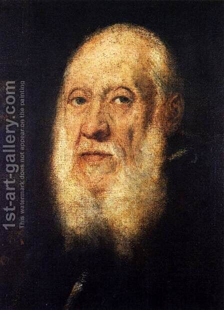 Portrait of Jacopo Sansovino 3 by Jacopo Tintoretto (Robusti) - Reproduction Oil Painting