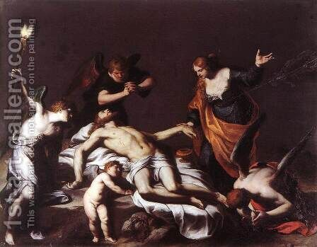 The Lamentation over the Dead Christ by Alessandro Turchi (Orbetto) - Reproduction Oil Painting