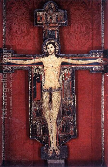 Crucifix by Italian Unknown Master - Reproduction Oil Painting