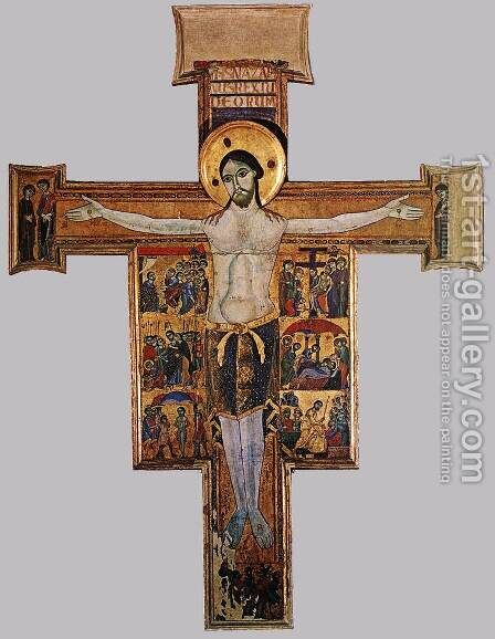 Crucifix with the Stories of the Passion by Italian Unknown Master - Reproduction Oil Painting