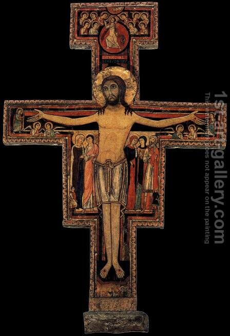 Crucifix of San Damiano by Italian Unknown Master - Reproduction Oil Painting