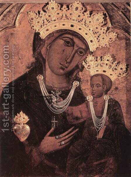 Madonna del Voto by Italian Unknown Master - Reproduction Oil Painting