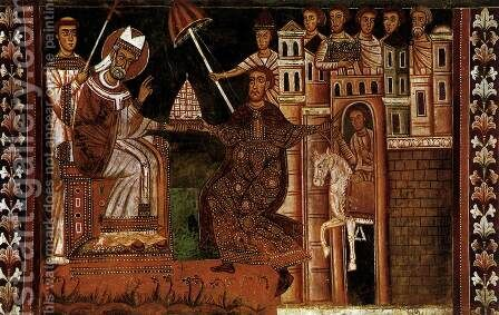 The Donation of Constantine by Italian Unknown Master - Reproduction Oil Painting
