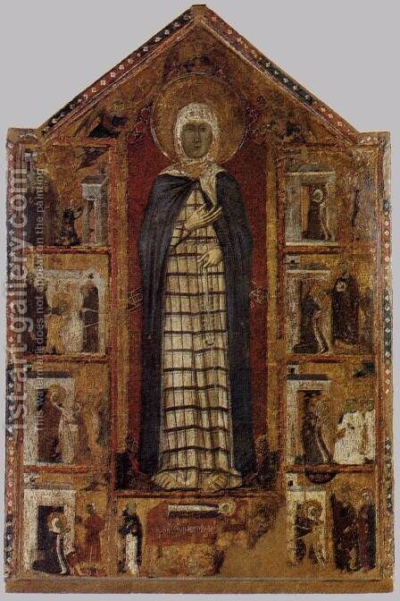 Story of St Margaret of Cortona by Italian Unknown Master - Reproduction Oil Painting