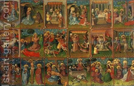Eighteen Scenes from the Life of Christ by Dutch Unknown Masters - Reproduction Oil Painting
