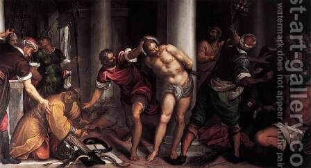 Flagellation 2 by Antonio da Vassilacchi - Reproduction Oil Painting