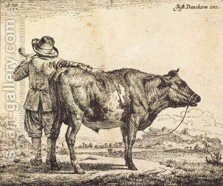 Bull by Adriaen Van De Velde - Reproduction Oil Painting