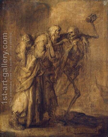 Dance of Death by Adriaen Pietersz. Van De Venne - Reproduction Oil Painting