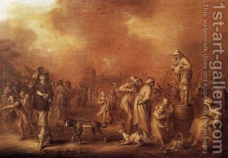 Where There Are People Money May Be Made by Adriaen Pietersz. Van De Venne - Reproduction Oil Painting
