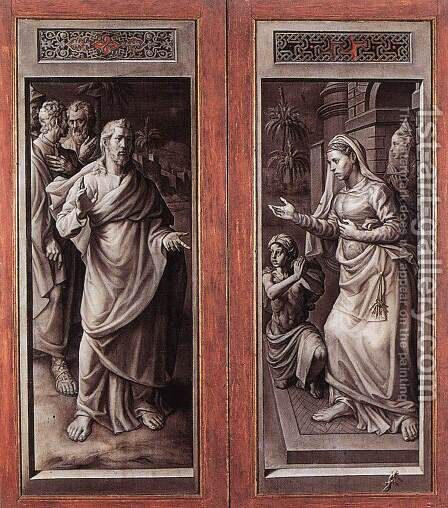 Triptych of the Micault Family (closed) 2 by Jan Cornelisz Vermeyen - Reproduction Oil Painting