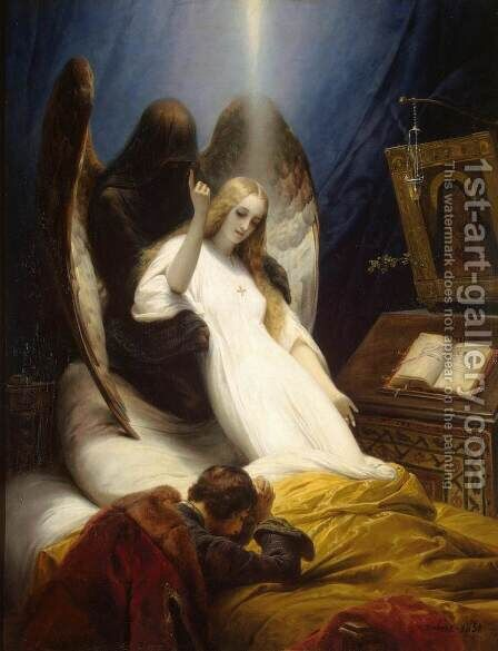 Angel of Death by Horace Vernet - Reproduction Oil Painting