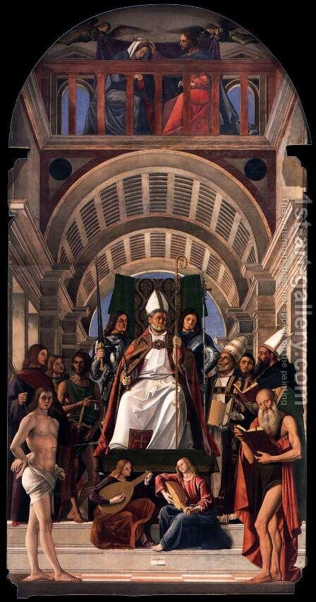 Altarpiece of St Ambrose by Alvise Vivarini - Reproduction Oil Painting