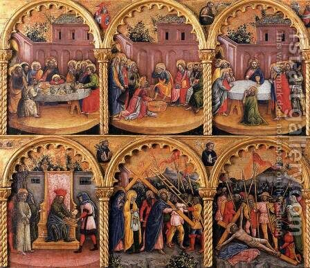 Passion Polyptych (detail) by Antonio Vivarini - Reproduction Oil Painting