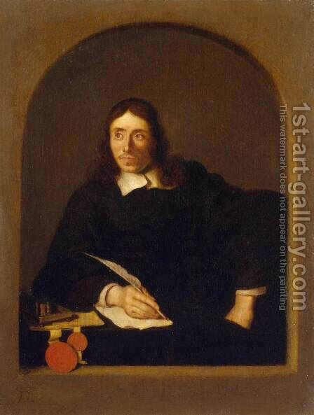 Portrait of a Notary by Arie de Vois - Reproduction Oil Painting