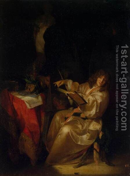 Self-Portrait 2 by Adriaen Van Der Werff - Reproduction Oil Painting