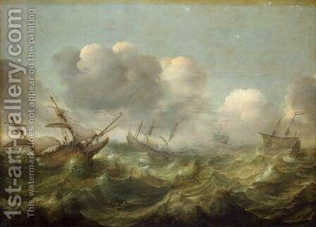 Stormy Sea by Adam Willaerts - Reproduction Oil Painting