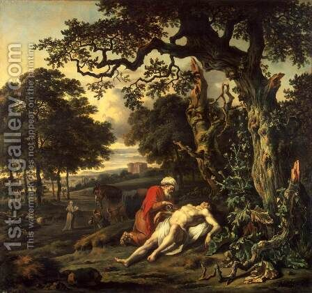 Parable of the Good Samaritan by Jan Wynants - Reproduction Oil Painting