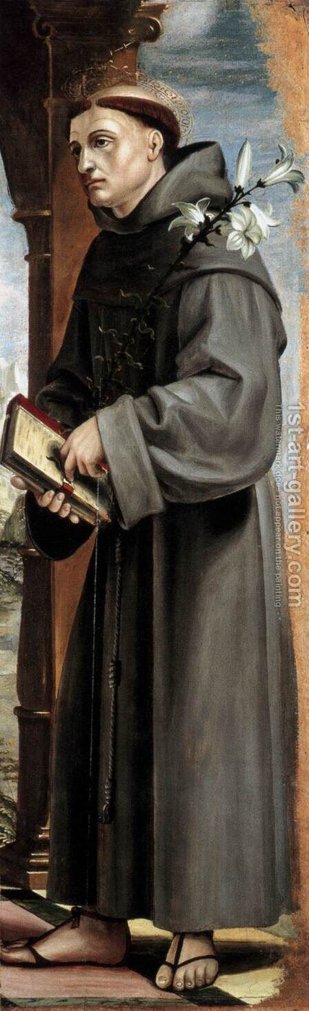 St Anthony of Padua by Bernadino Zenale - Reproduction Oil Painting