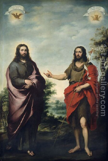 St John the Baptist Pointing to Christ by Bartolome Esteban Murillo - Reproduction Oil Painting